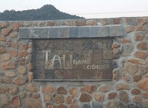 Tau Game Lodge Sign